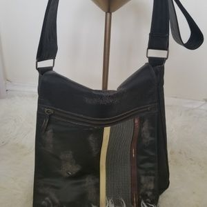 Handbags - Rugged Leather and Canvas Messenger Bag